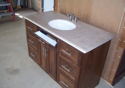 Dark Vanity with Stone Counter and Undermount Sink 3
