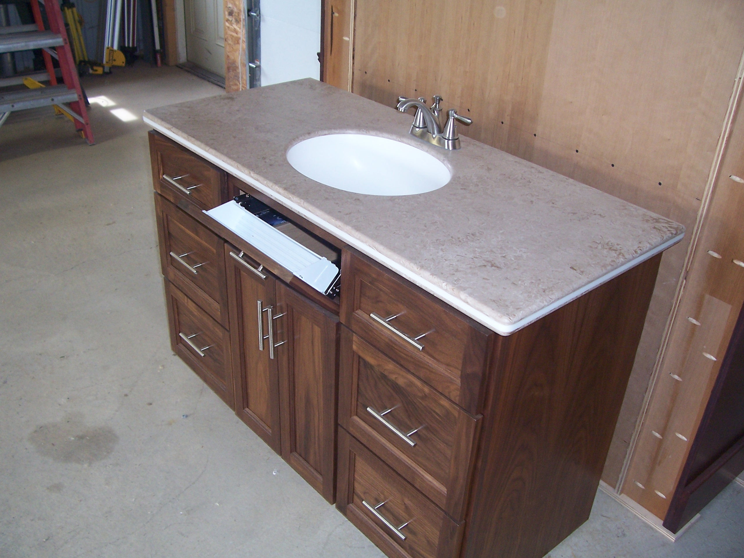corner cabinet custom bathroom vanity wood pin products cabinets table and