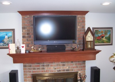 Custom Fireplace Mantel with TV Mount