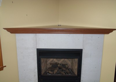 Corner Fireplace Mantel 1