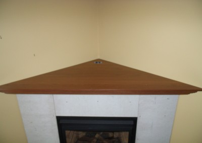 Corner Fireplace Mantel 2